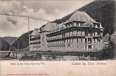 Hotelul Racoviță înainte de război