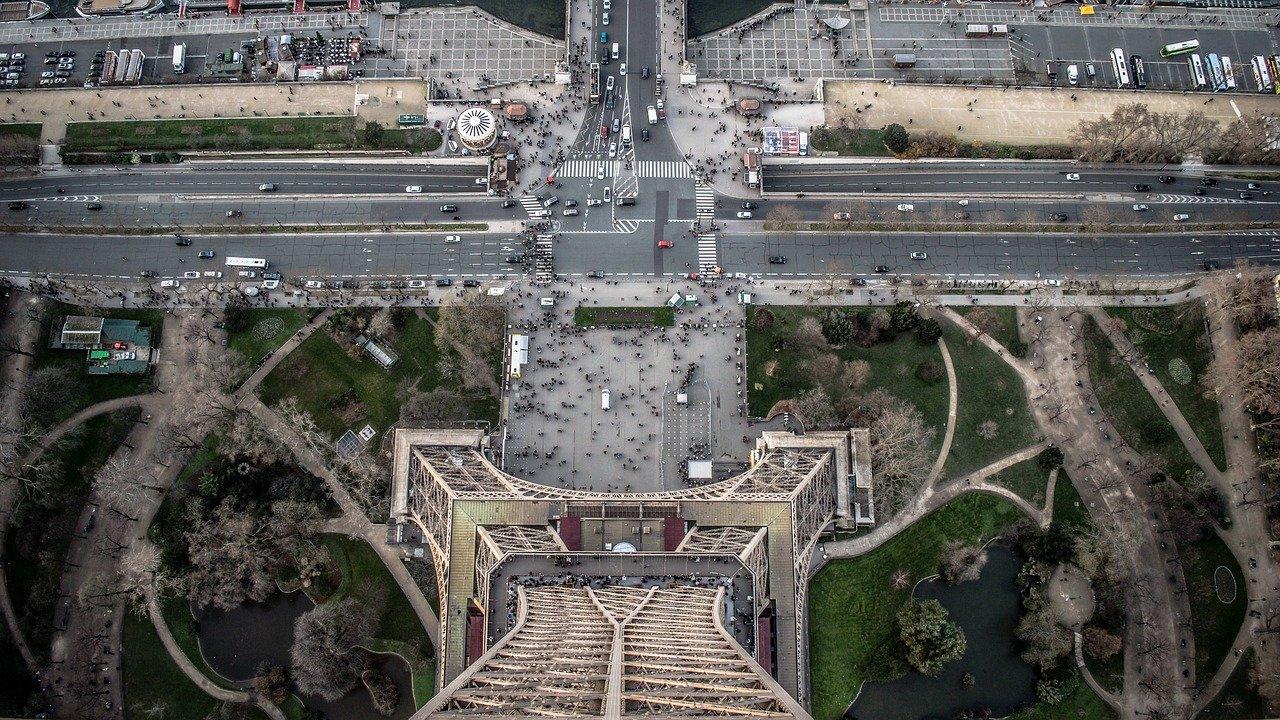 Imagine din Turnul Eiffel