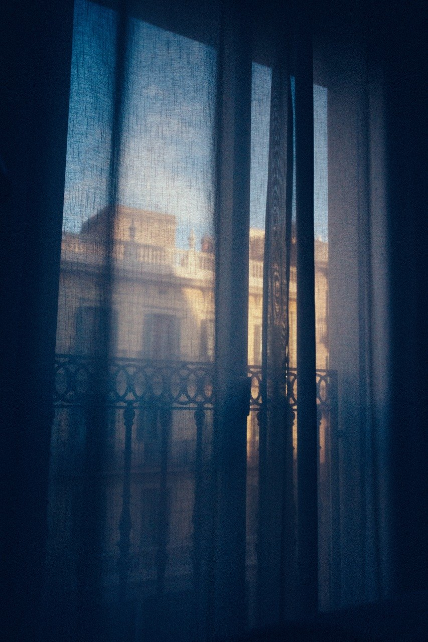 drapes, curtains, window view
