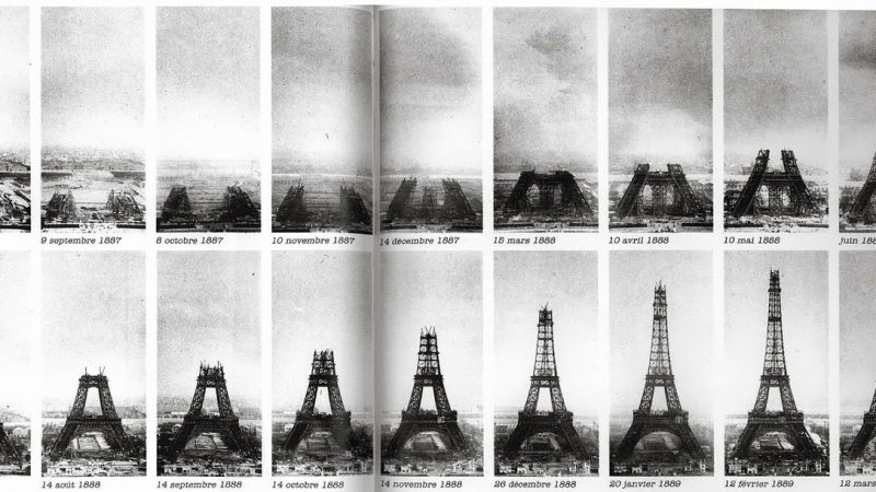 eiffel tower, construction, paris