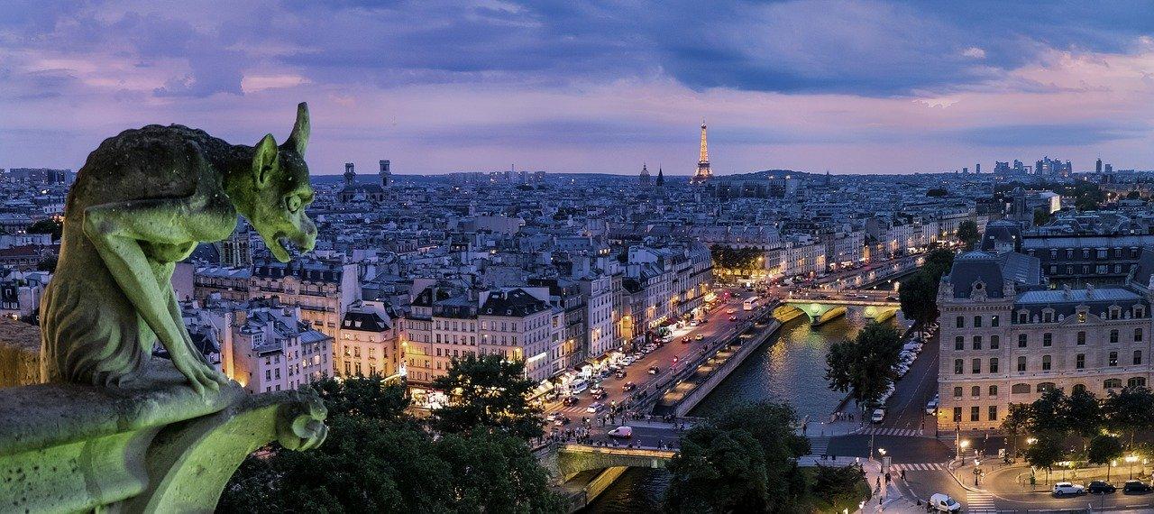paris, gargoyle, france