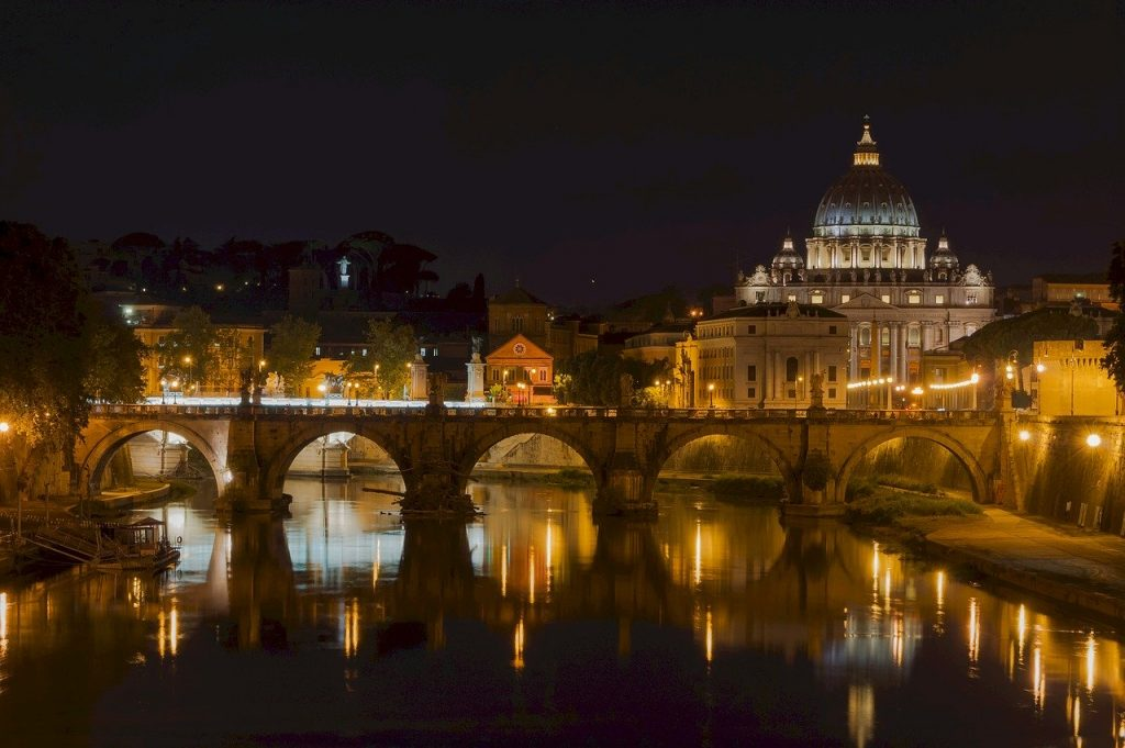 saint peters basilica, bridge, sant' angelo