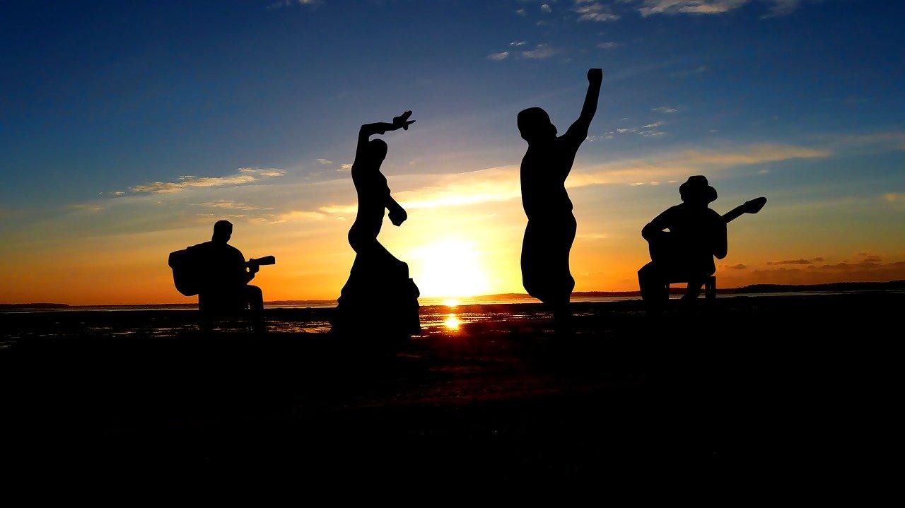 sunset, music, flamenco