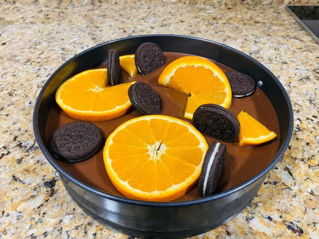cheesecake biscuiti oreo si portocale