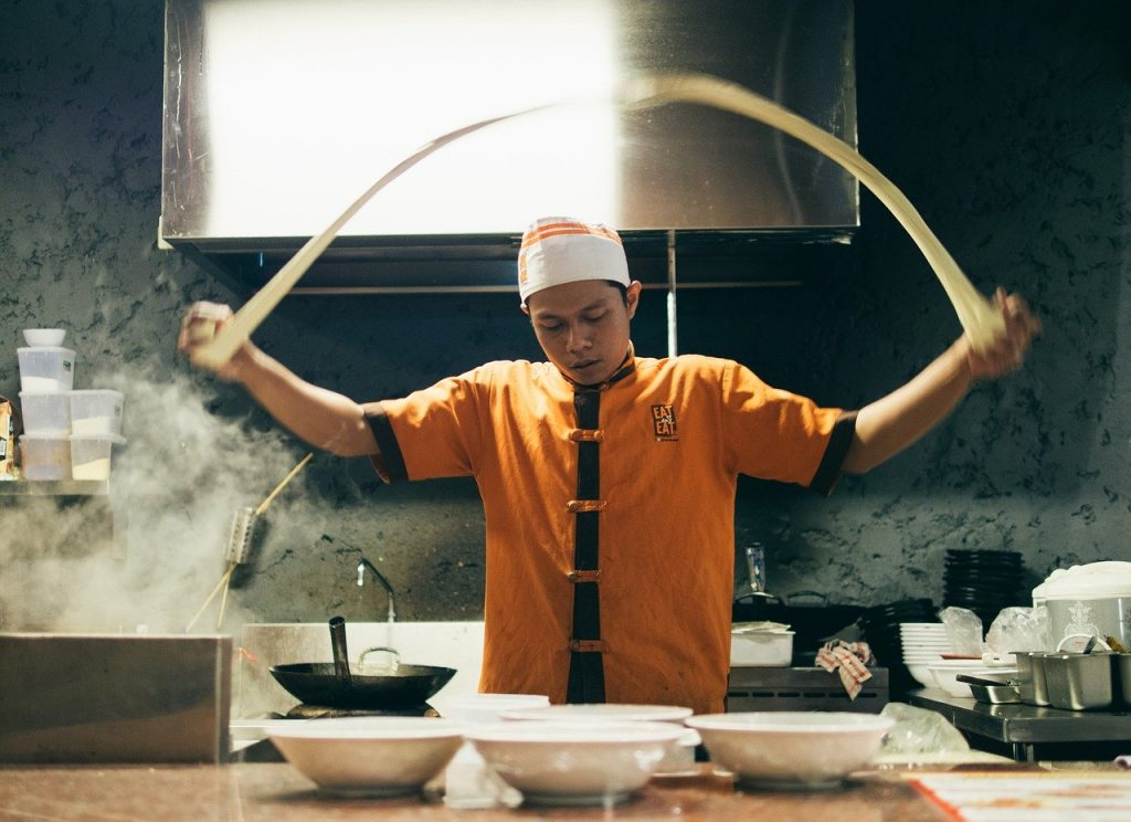 asian cuisine, chef, cooking