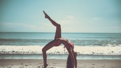 beach, yoga, athlete