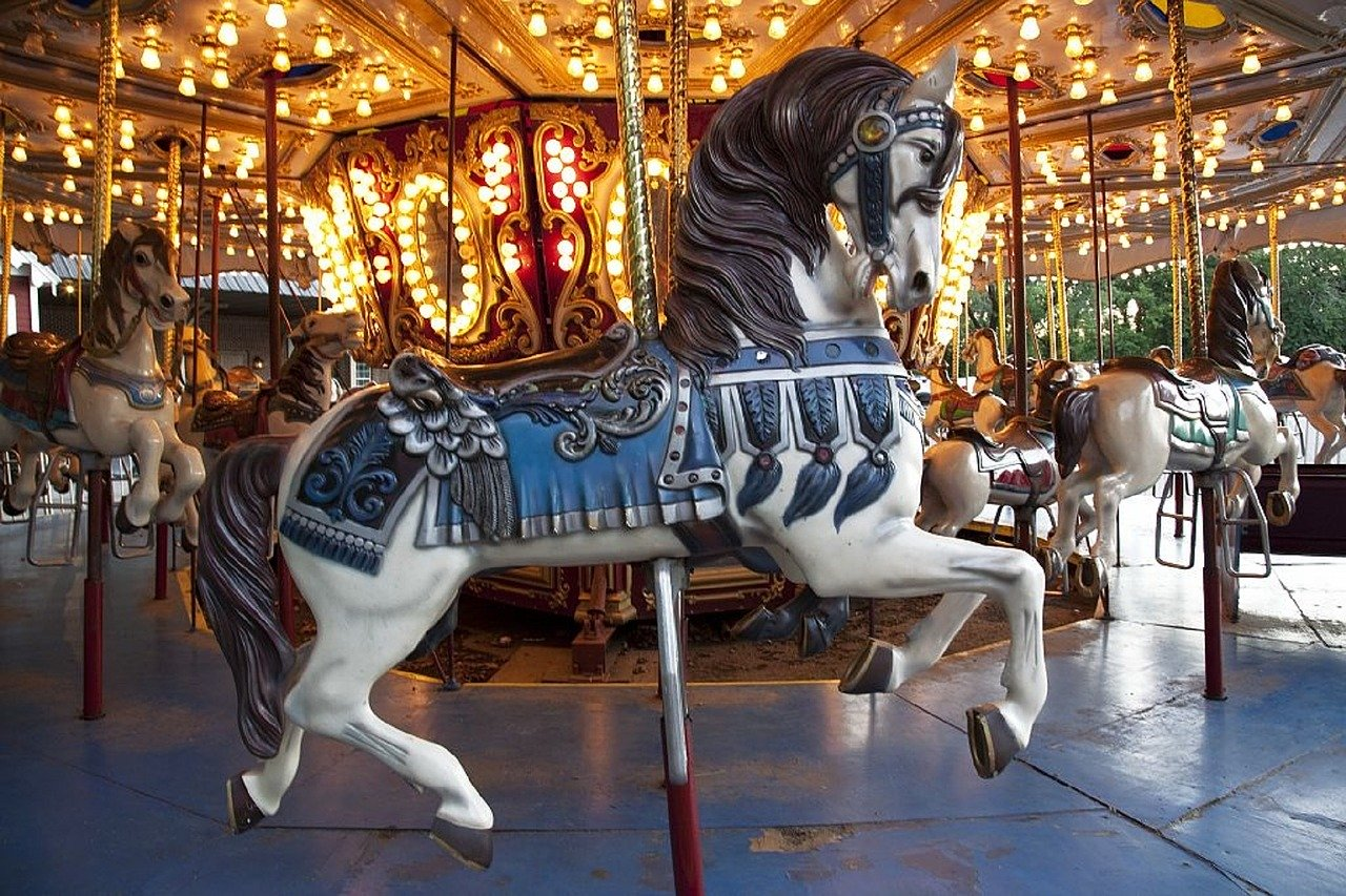 horse, wooden, carousel