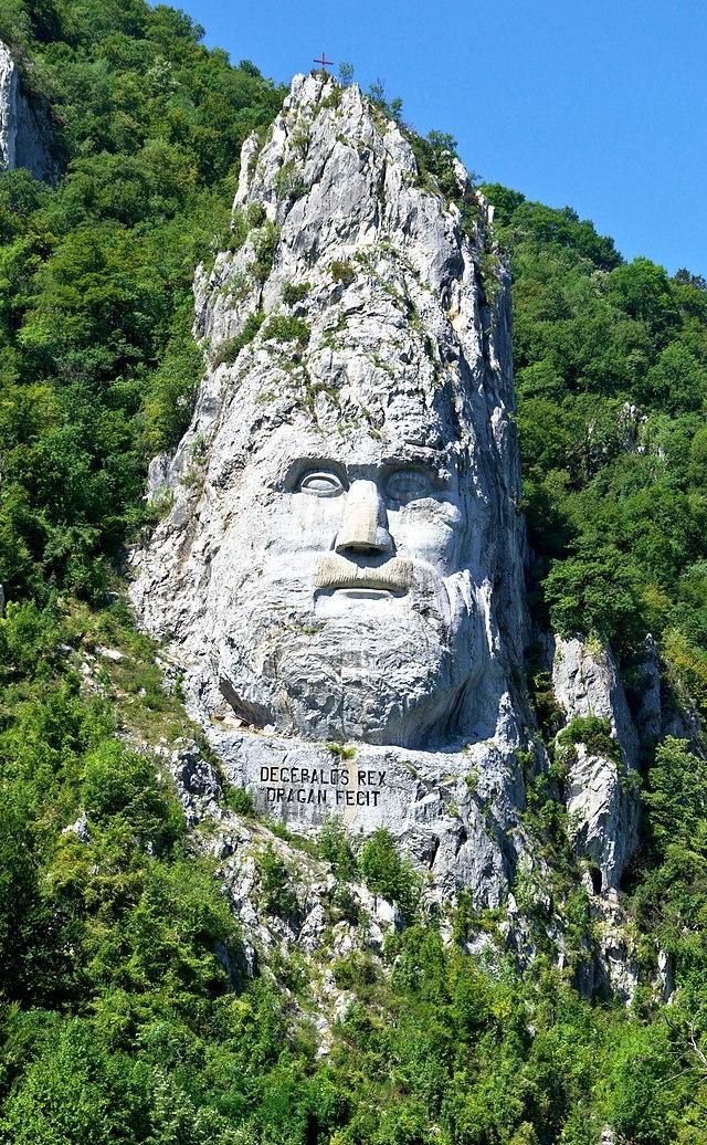 Chipul lui Decebal Statuia lui Decebal Cazanele Dunarii